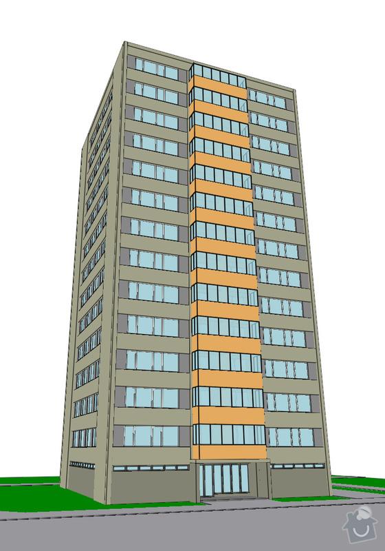 Projekt kompletního zateplení panelového bytového domu s rozšířením stávajících lodžií: 20_vizualizace