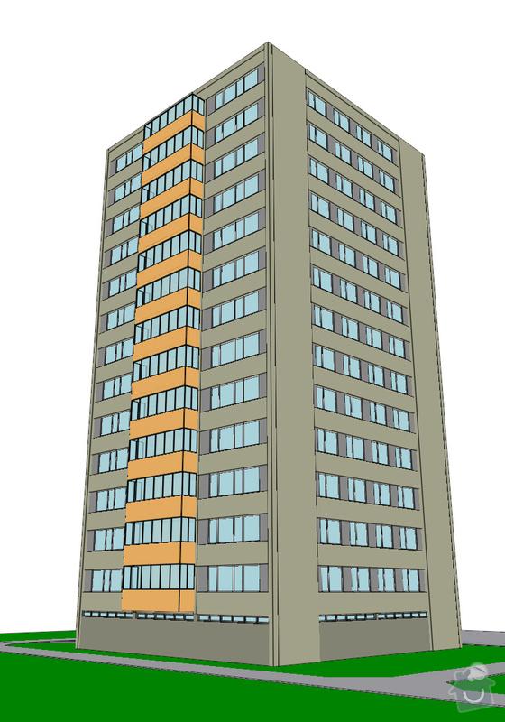 Projekt kompletního zateplení panelového bytového domu s rozšířením stávajících lodžií: 21_vizualizace
