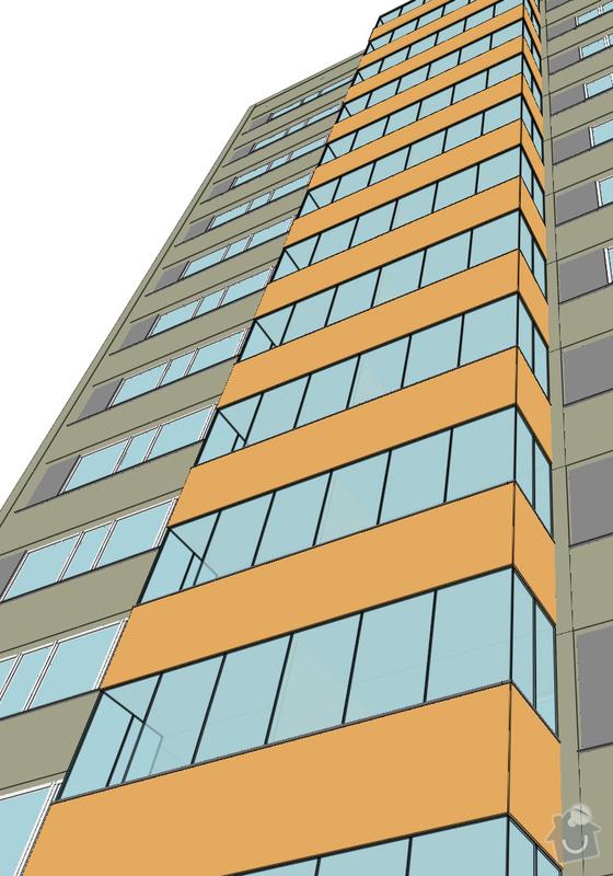 Projekt kompletního zateplení panelového bytového domu s rozšířením stávajících lodžií: 22_vizualizace