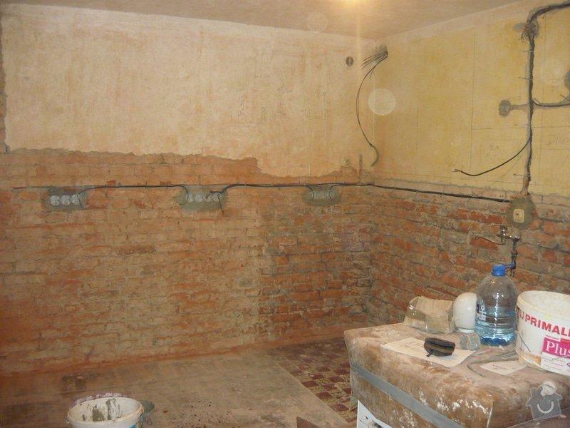 Zednické práce - omítky kuchyně, úprava proti vzniku plísní: P1040703