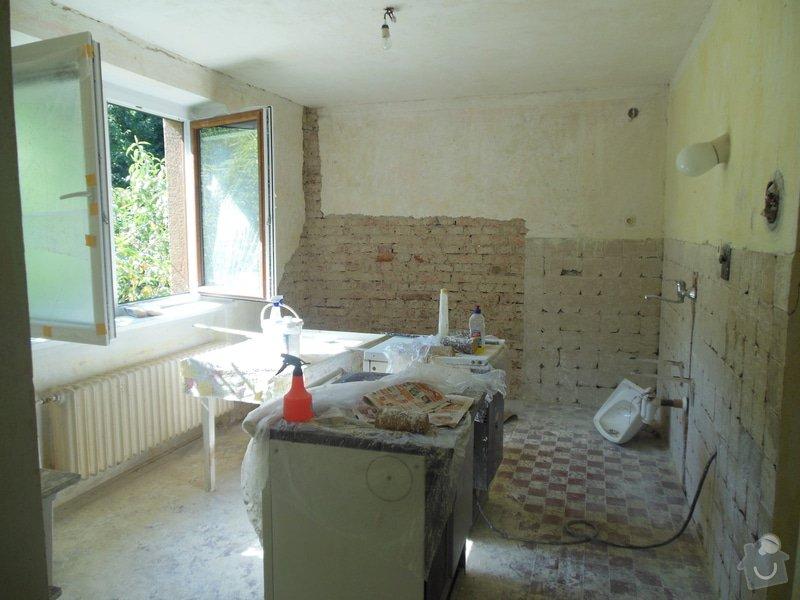 Zednické práce - omítky kuchyně, úprava proti vzniku plísní: DSCN1672