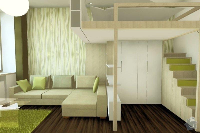 Výroba a montáž vestavného patra na spaní: byt-vysehrad-02