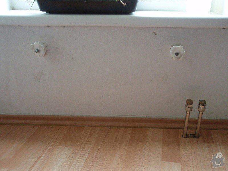 Výměna radiátorů: odpojeny_radiator