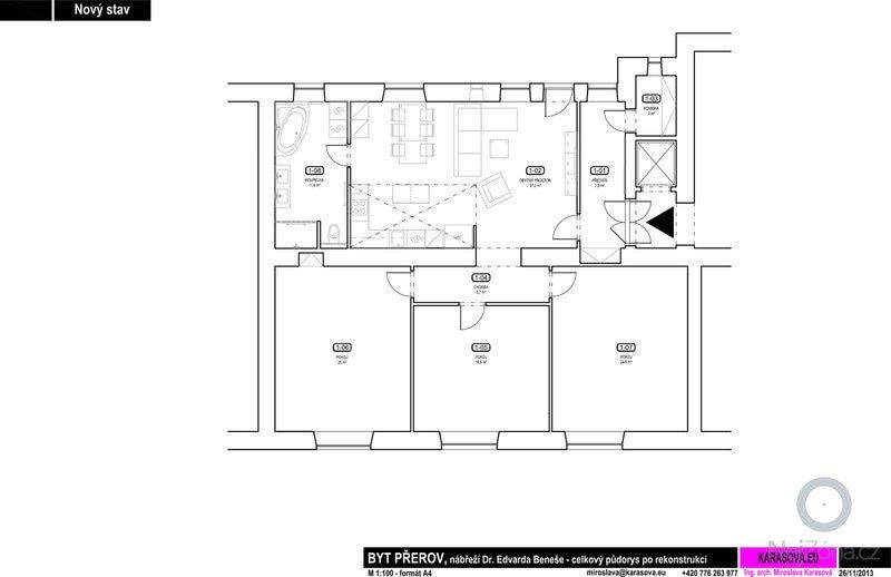 Návrh a realizace přestavby bytu v Přerově: 13_BYT_PREROV_NOVY_STAV