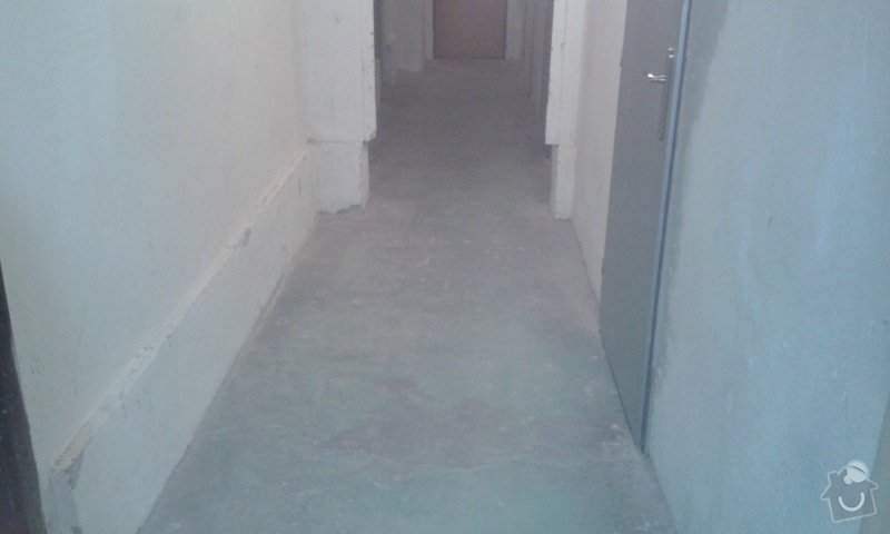 Vyrovnání a natření betonové podlahy: 20141021_152918