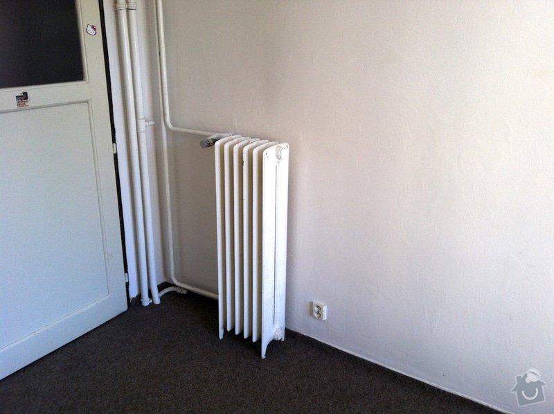 Výměna litinového radiátoru za výkonnější: radiator-mistnost
