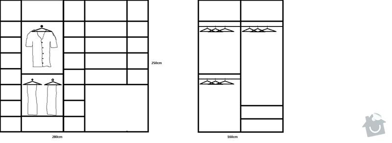 Vestavěné skříně do šatny: satna_navrh_001