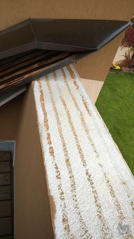 Oprava atiky - oplechování balkonové zdi: WP_20141028_005