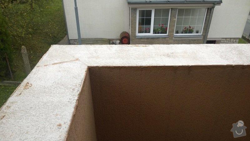 Oprava atiky - oplechování balkonové zdi: WP_20141028_007