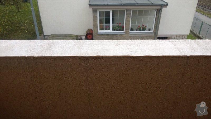 Oprava atiky - oplechování balkonové zdi: WP_20141028_008