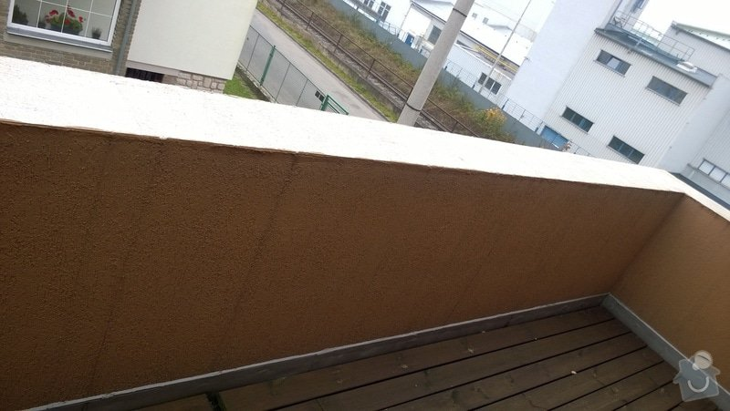 Oprava atiky - oplechování balkonové zdi: WP_20141028_009