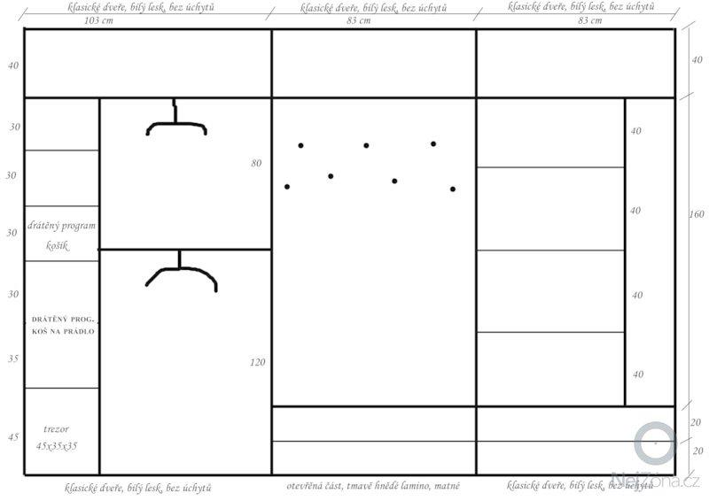 Vestavěná skříň (chodba): skrin