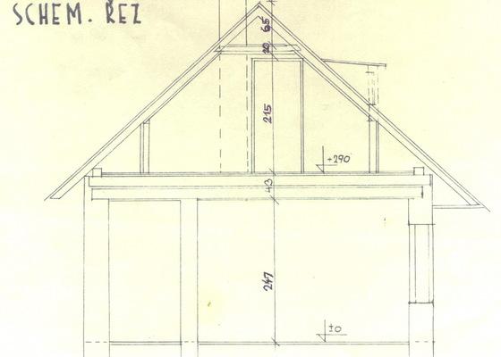 Oprava podkroví - nové schodiště, zateplení střechy, 2 střešní okna