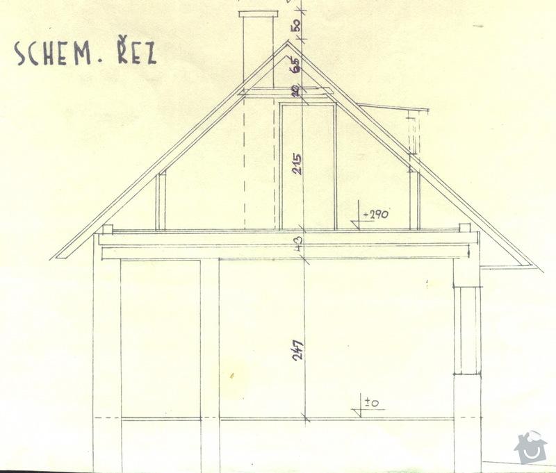Oprava podkroví - nové schodiště, zateplení střechy, 2 střešní okna: chaloupka_vyskove