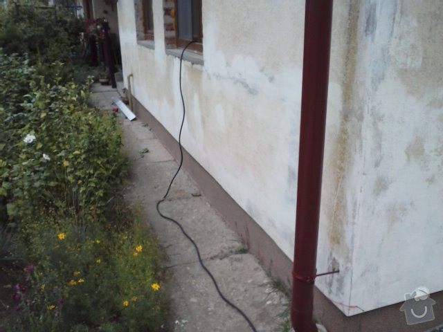 Montáž oken a zateplení fasády RD: CAM00613