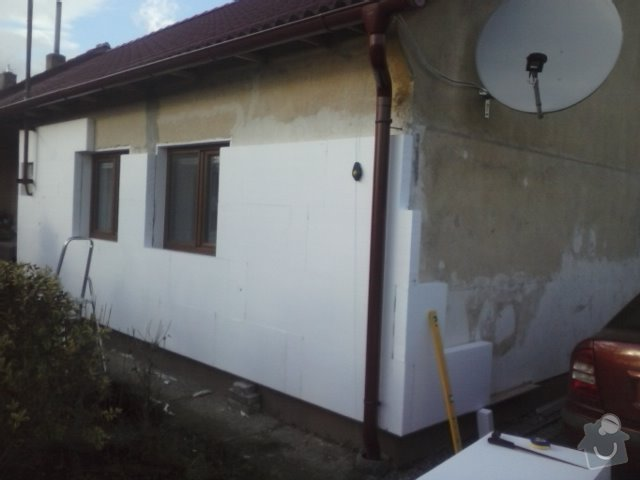 Montáž oken a zateplení fasády RD: CAM00744