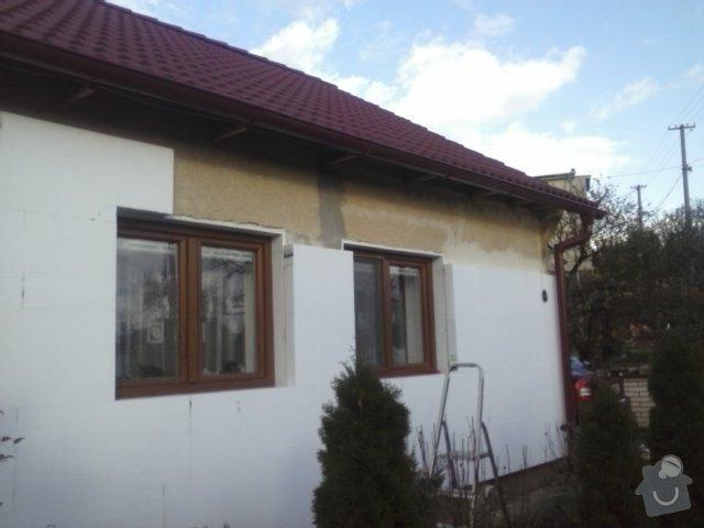 Montáž oken a zateplení fasády RD: CAM00745