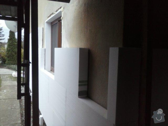 Montáž oken a zateplení fasády RD: CAM00756