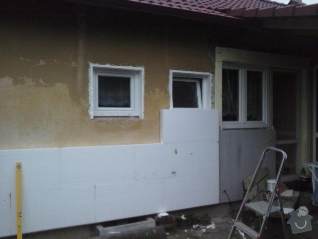 Montáž oken a zateplení fasády RD: CAM00758