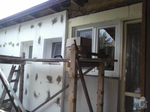 Montáž oken a zateplení fasády RD: CAM01362
