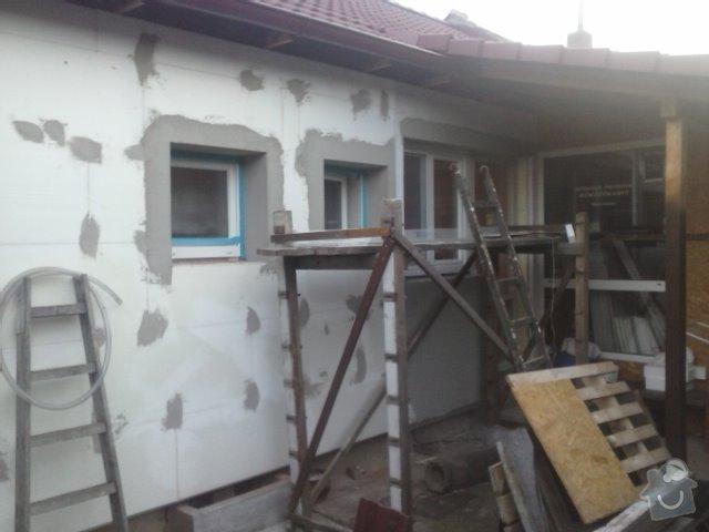 Montáž oken a zateplení fasády RD: CAM01364