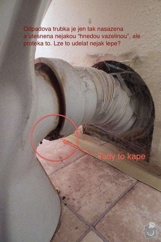 Oprava netěsnícího odpadu u WC: odpad-wc-1