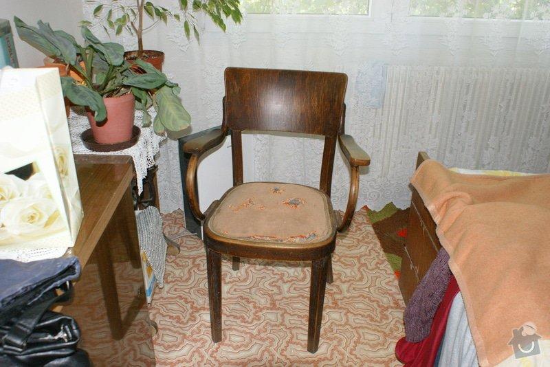Potáhnout sedák 3 křesel dle foto v příloze : DSC02572