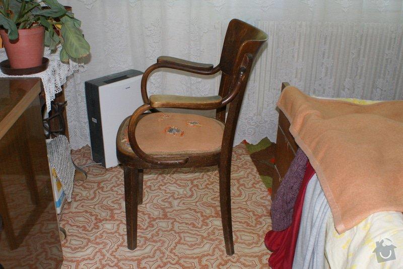 Potáhnout sedák 3 křesel dle foto v příloze : DSC02573