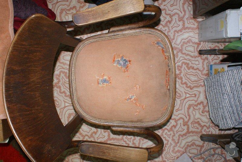 Potáhnout sedák 3 křesel dle foto v příloze : DSC02574