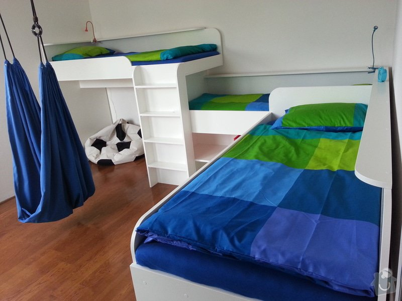 Dětský pokoj - postele pro tři děti: 20140901_141247