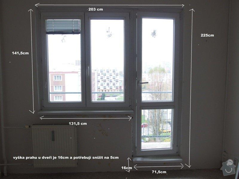 Plastové okna ,zasklení lodžie: obyvak
