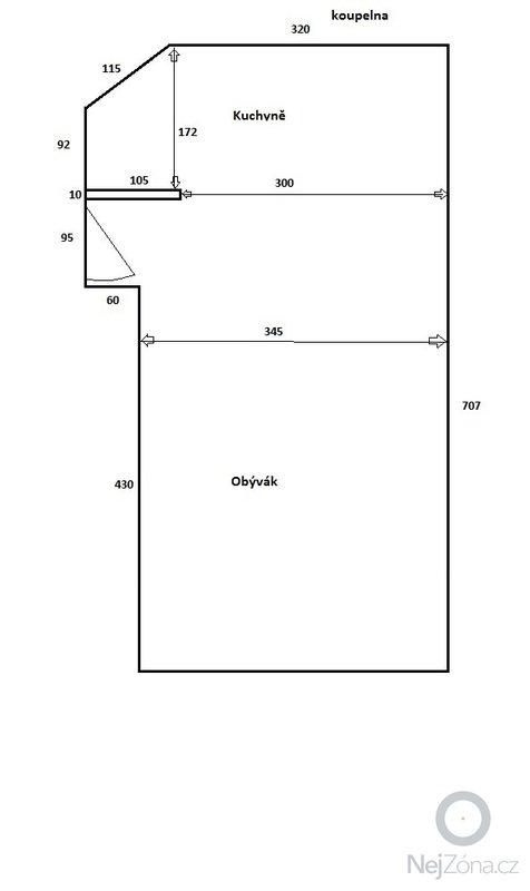 Rekonstrukce koupelny + částečně kuchyně: kuchyn