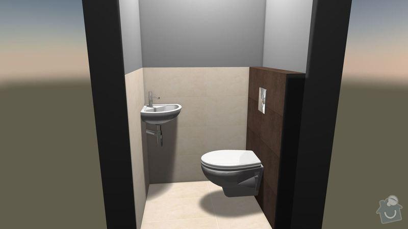 Rekonstrukce koupelny + částečně kuchyně: vizualizace_WC