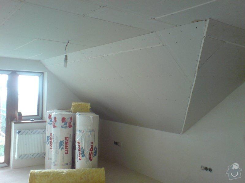Montaz izolace a sadrokartonu v podkrovi RD: DSC00088