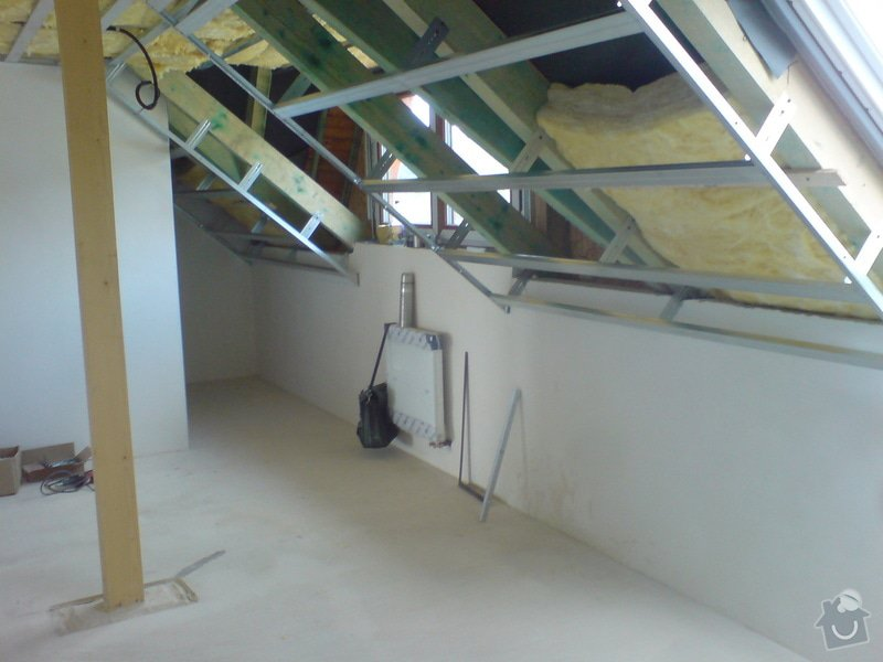 Montaz izolace a sadrokartonu v podkrovi RD: DSC00090