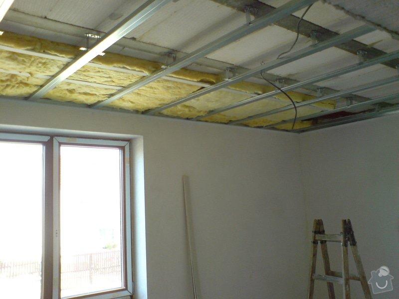 Sádrokartonové stropní podhledy půdní vestavby a přízemí : DSC00063