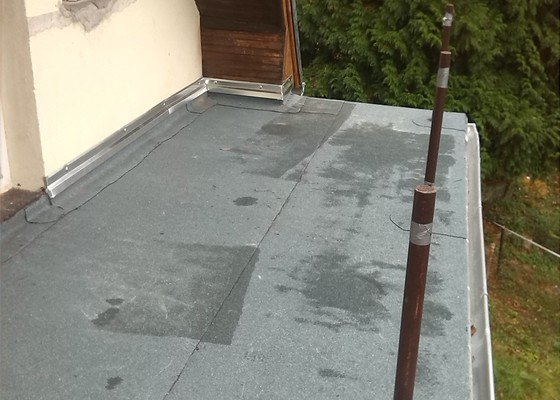 Výměna krytiny, okapy, izolace terasy