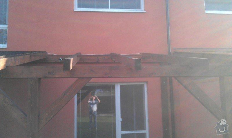 Zakrytí střechy polykarbonátem: IMAG0840