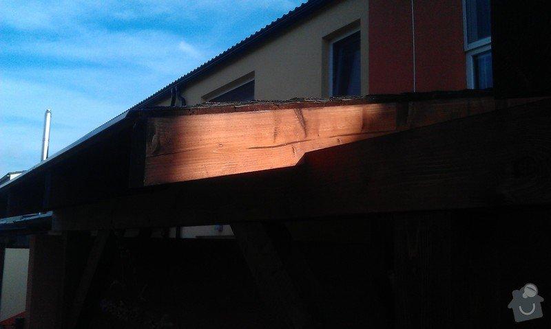 Zakrytí střechy polykarbonátem: IMAG0842