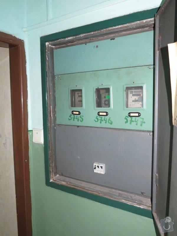 Výměna původního přívodu a hlavního 1F jističe 25A/B pro byt: F2