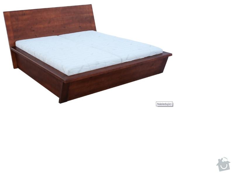Manželská postel z masivu: varianta_reseni_sesikmeni_cela