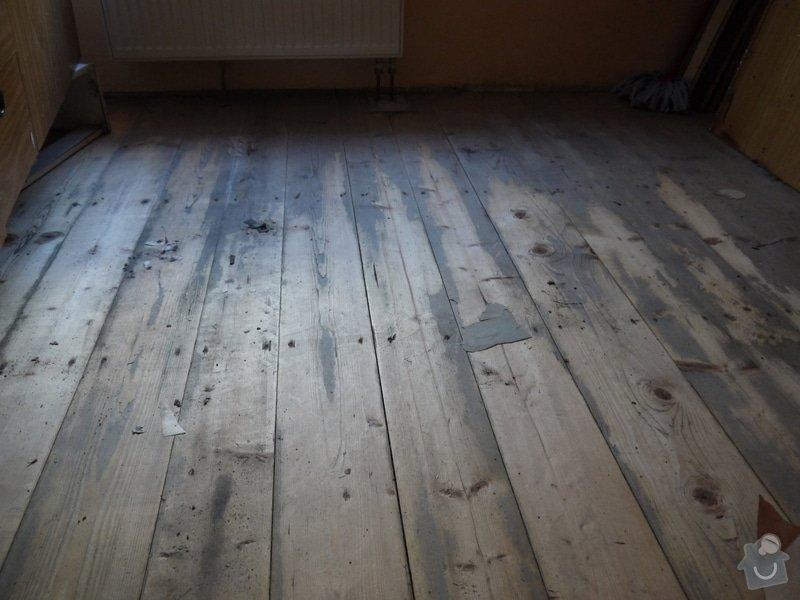 Broušeni/renovace staré podlahy: pokoj1
