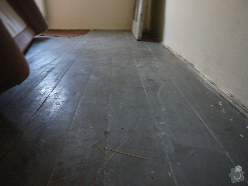 Broušeni/renovace staré podlahy: pokoj2