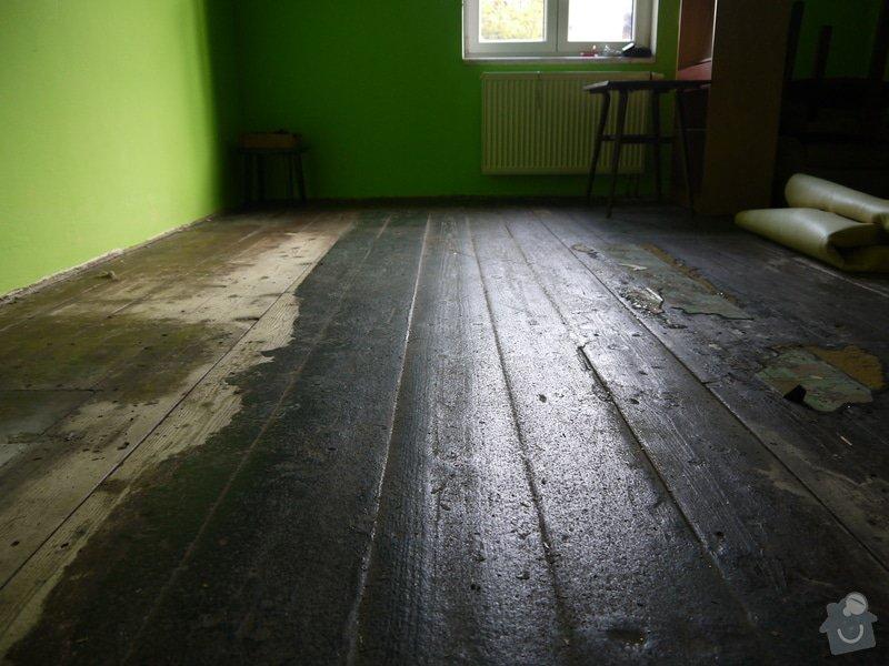 Broušeni/renovace staré podlahy: pokoj3