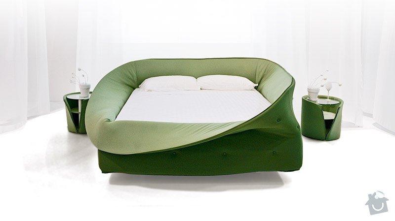 Výroba atypické čalouněné postele: col-letto-green
