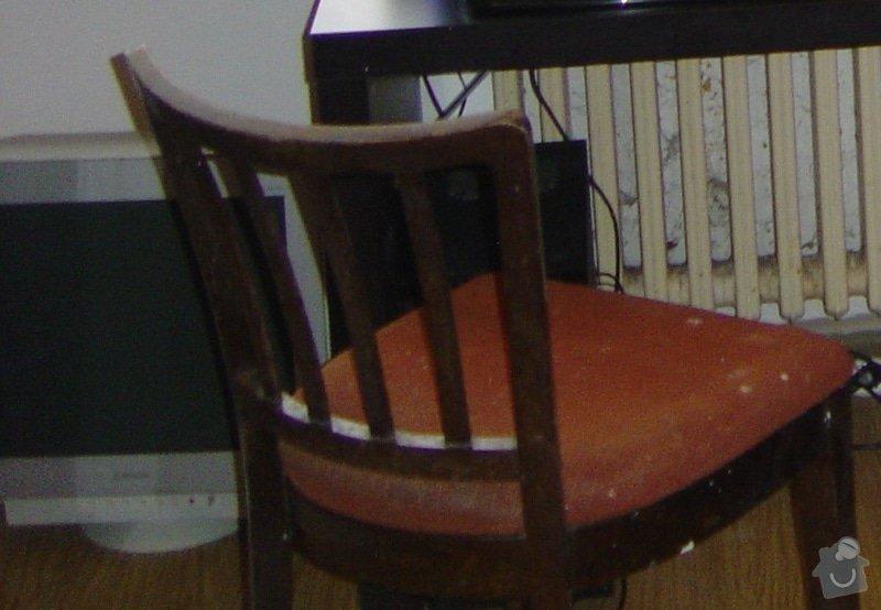 Lakování 4 židlí: zidle