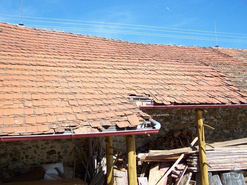 Zateplení systém ECORAW , střecha na stodole: 16