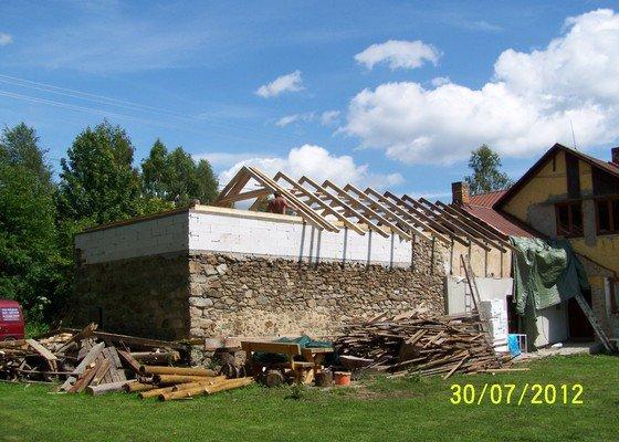 Zateplení systém ECORAW , střecha na stodole