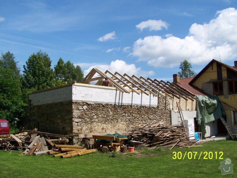 Zateplení systém ECORAW , střecha na stodole: 100_1732