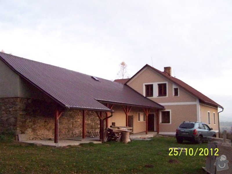 Zateplení systém ECORAW , střecha na stodole: 100_1764